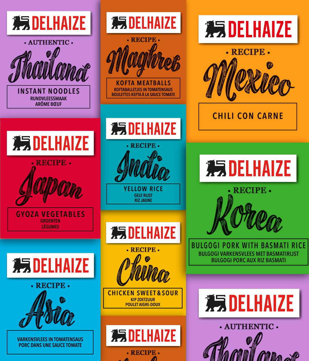 Quatre Mains package design - country's, colour