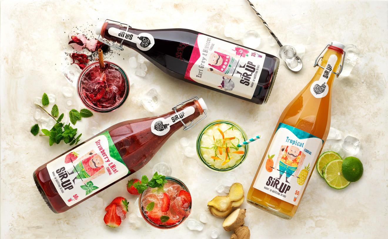 Quatre Mains package design - cocktails, thees, lemonades, drinks