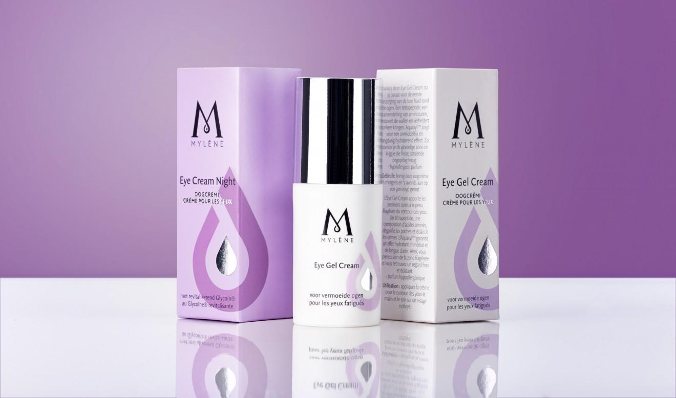 Quatre Mains package design - anti-aging, Mylène, beauty