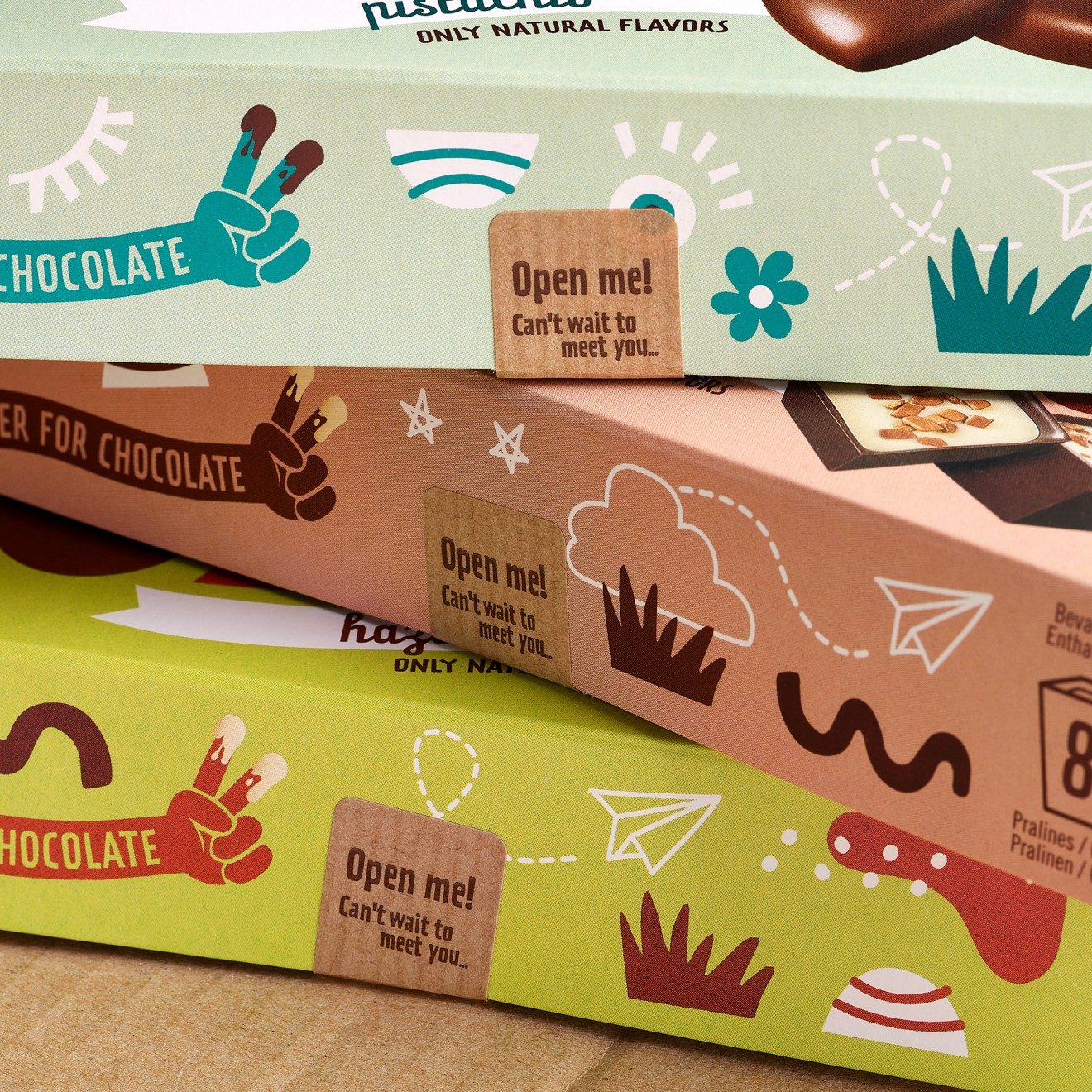 Quatre Mains package design - packaging, stickers, plastic free