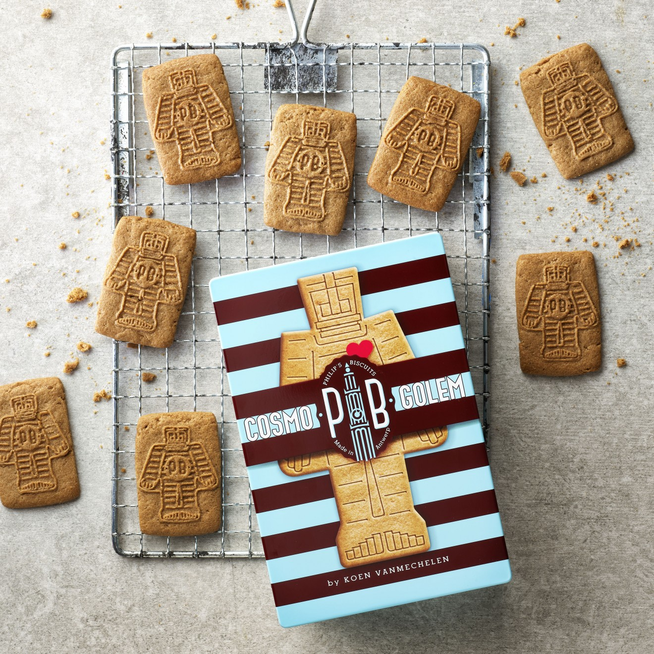 Quatre Mains package design - biscuits, baking