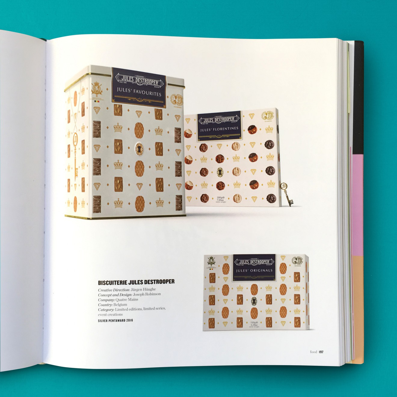 Quatre Mains package design - jules destrooper, eoy, pentaward
