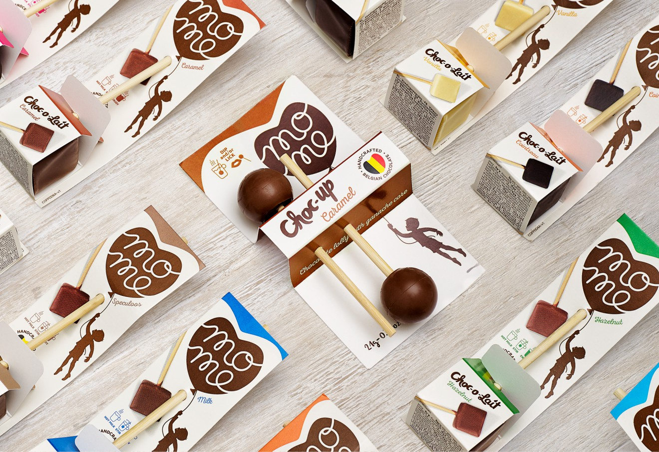 Quatre Mains package design - chocolait, mome, rebranding, quatre mains