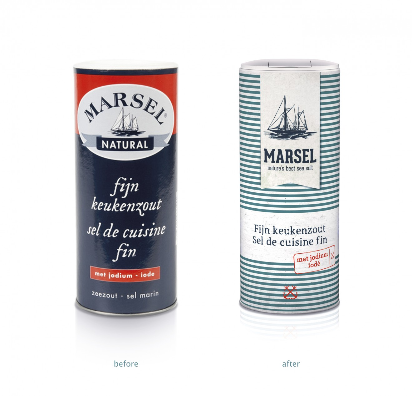 Quatre Mains package design - logo, update, marsel, best salt