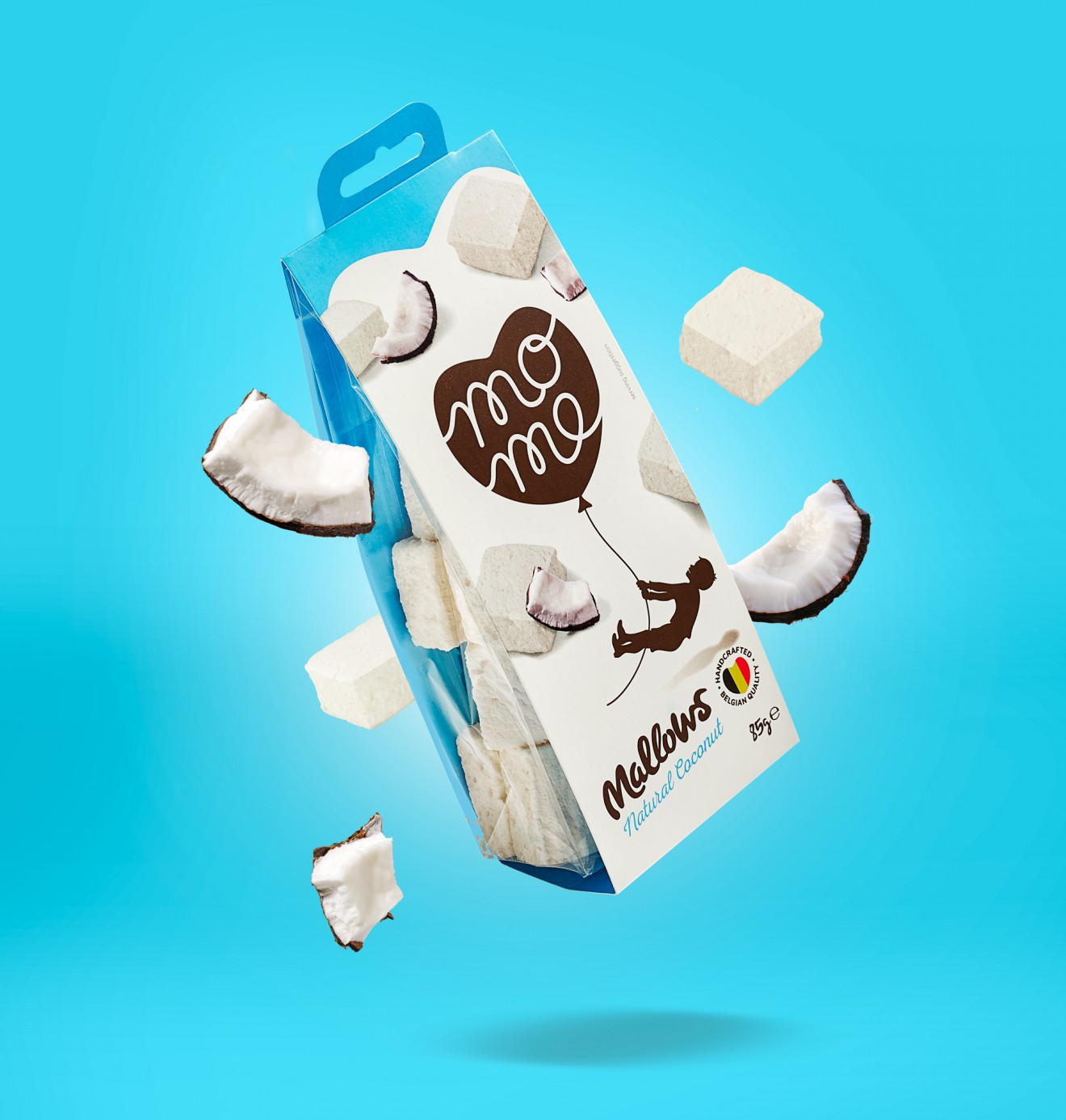 Quatre Mains package design - coconut, marshmallow, restyling, packaging