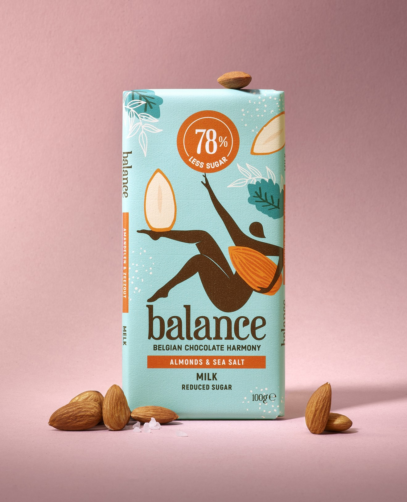 Quatre Mains package design - yoga, almond,