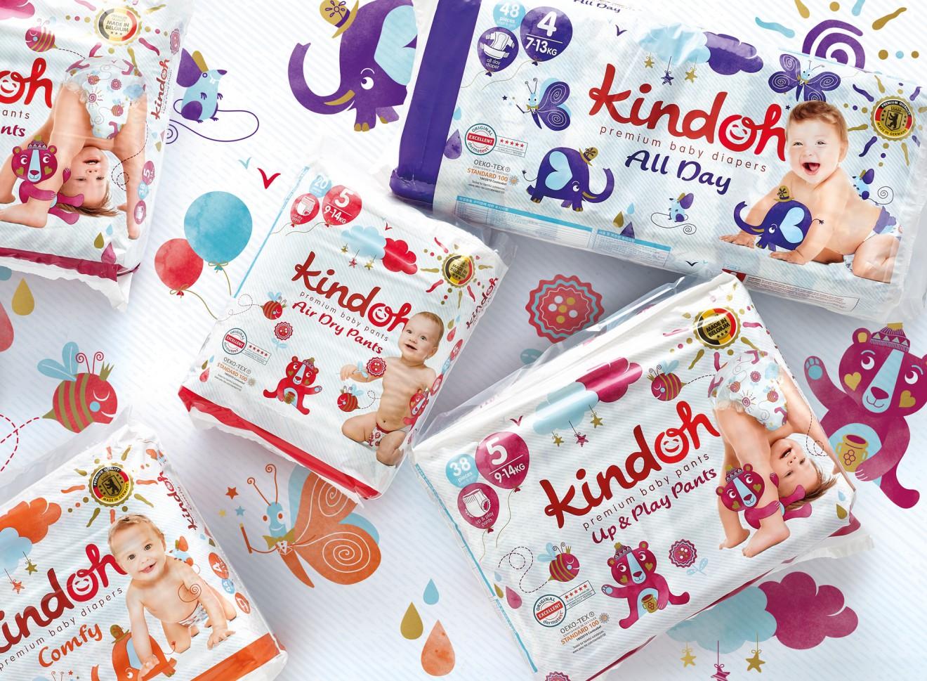 Quatre Mains package design - baby, care products, kindoh, quatre mains