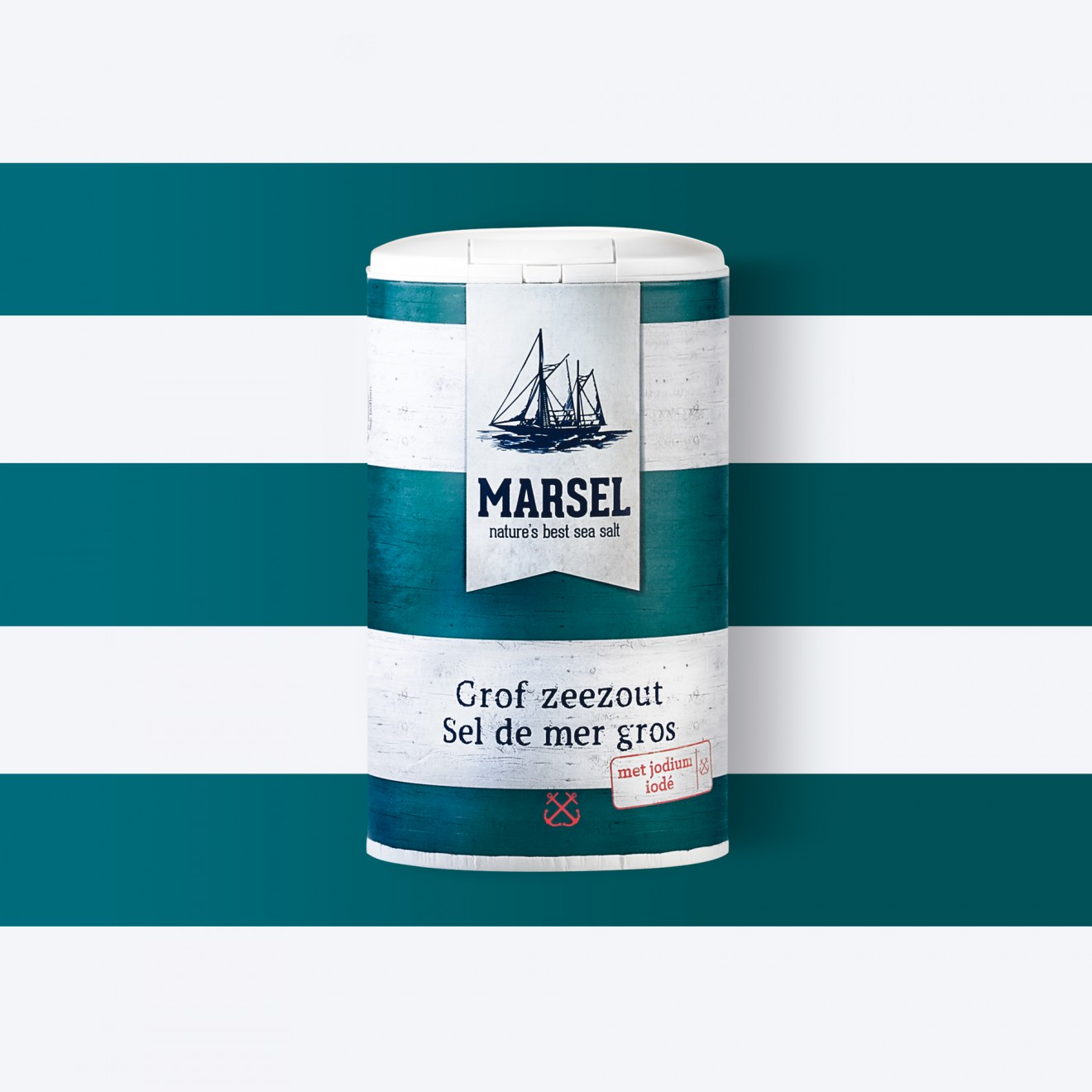 Quatre Mains package design - sea salt, fisher boat, sailor