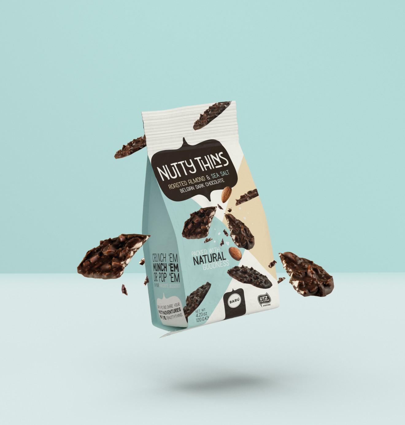 Quatre Mains package design - packaging, crunchy, baru, quatre mains
