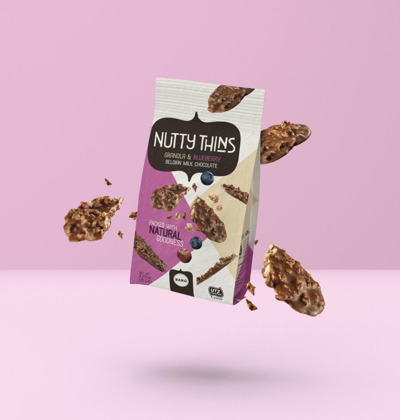 Quatre Mains package design - indulgence, lekker, krokant, snacking