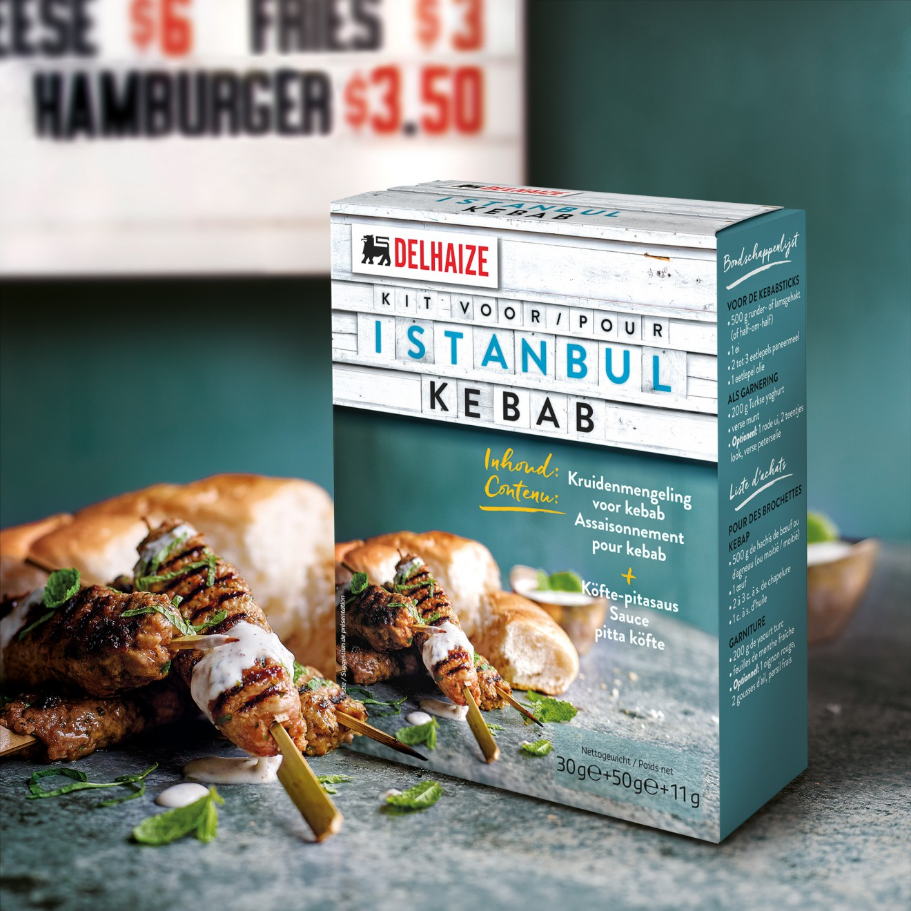 Quatre Mains package design - istanbul, kebab, spices, packaging