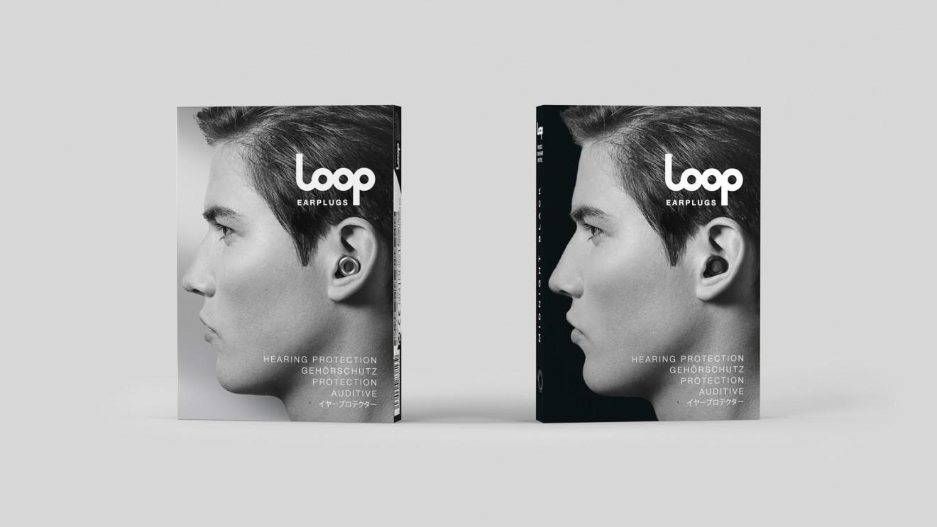 Quatre Mains package design - silver, metal, face, ear, damage