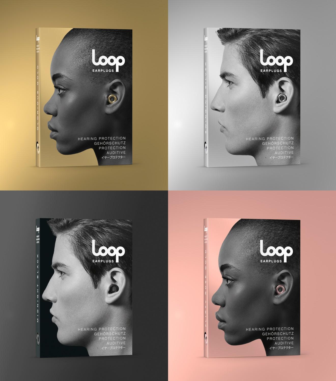 Quatre Mains package design - metallics colours, stylish