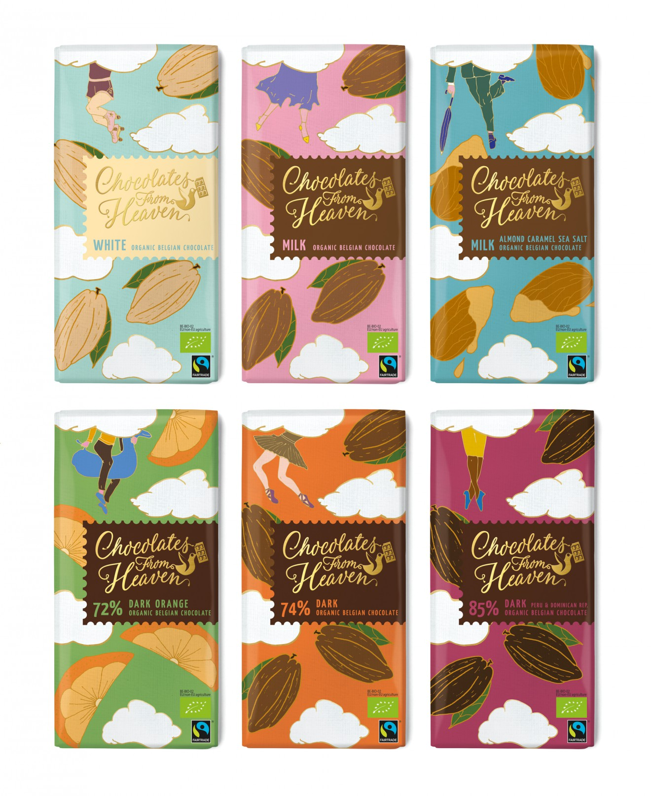 Quatre Mains package design - premium, chocolate, range