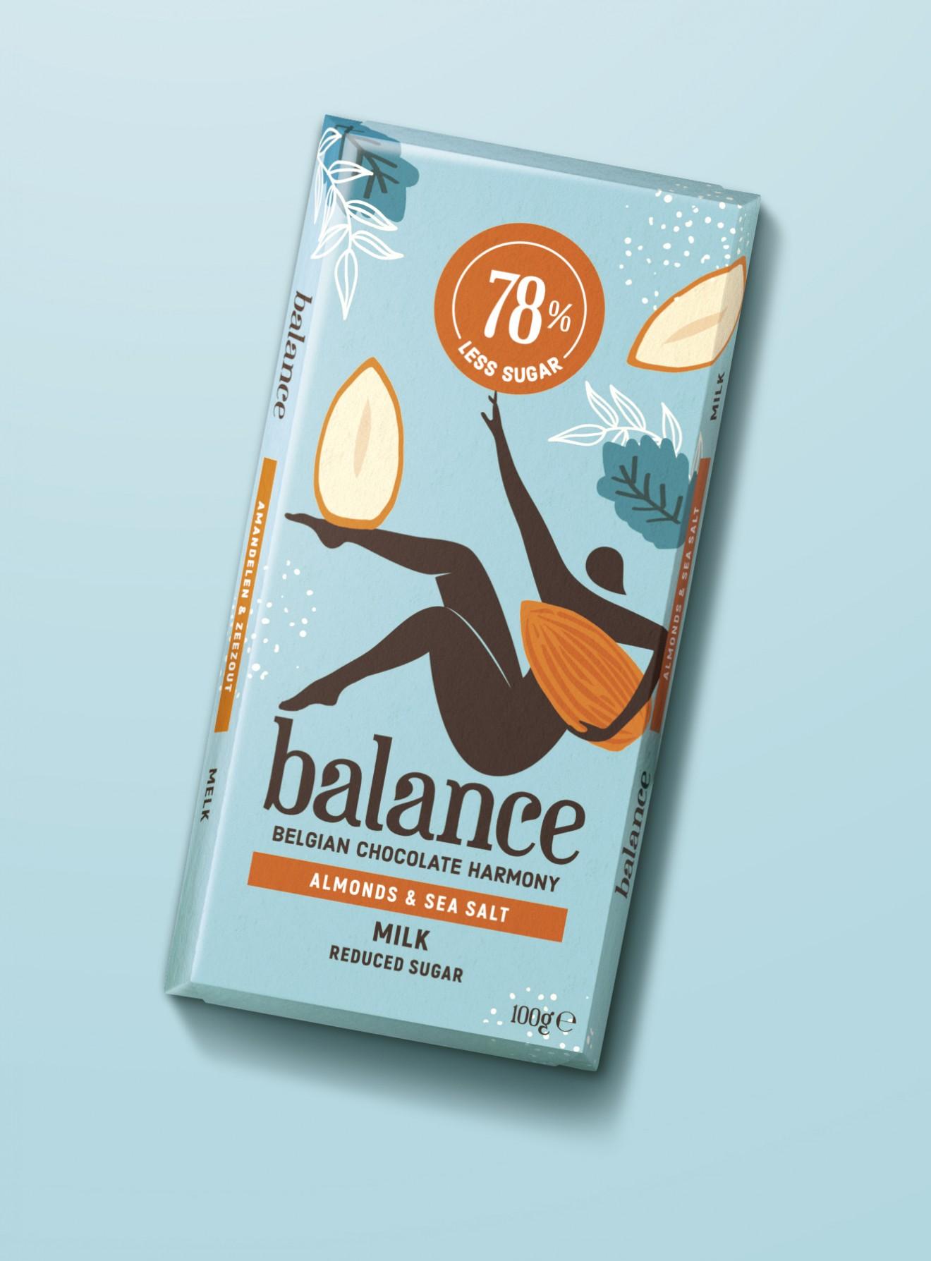 Quatre Mains package design - sea salt, almond, procent, quatre mains