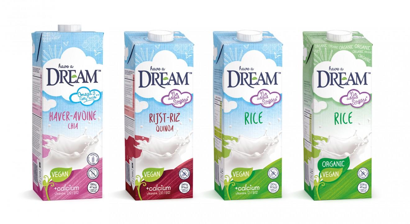 Quatre Mains package design - glutenfree, vegan, organic, milk, quatre mains
