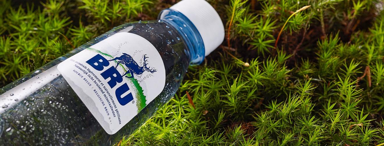 Quatre Mains package design - quatremains, bottle, water, bru
