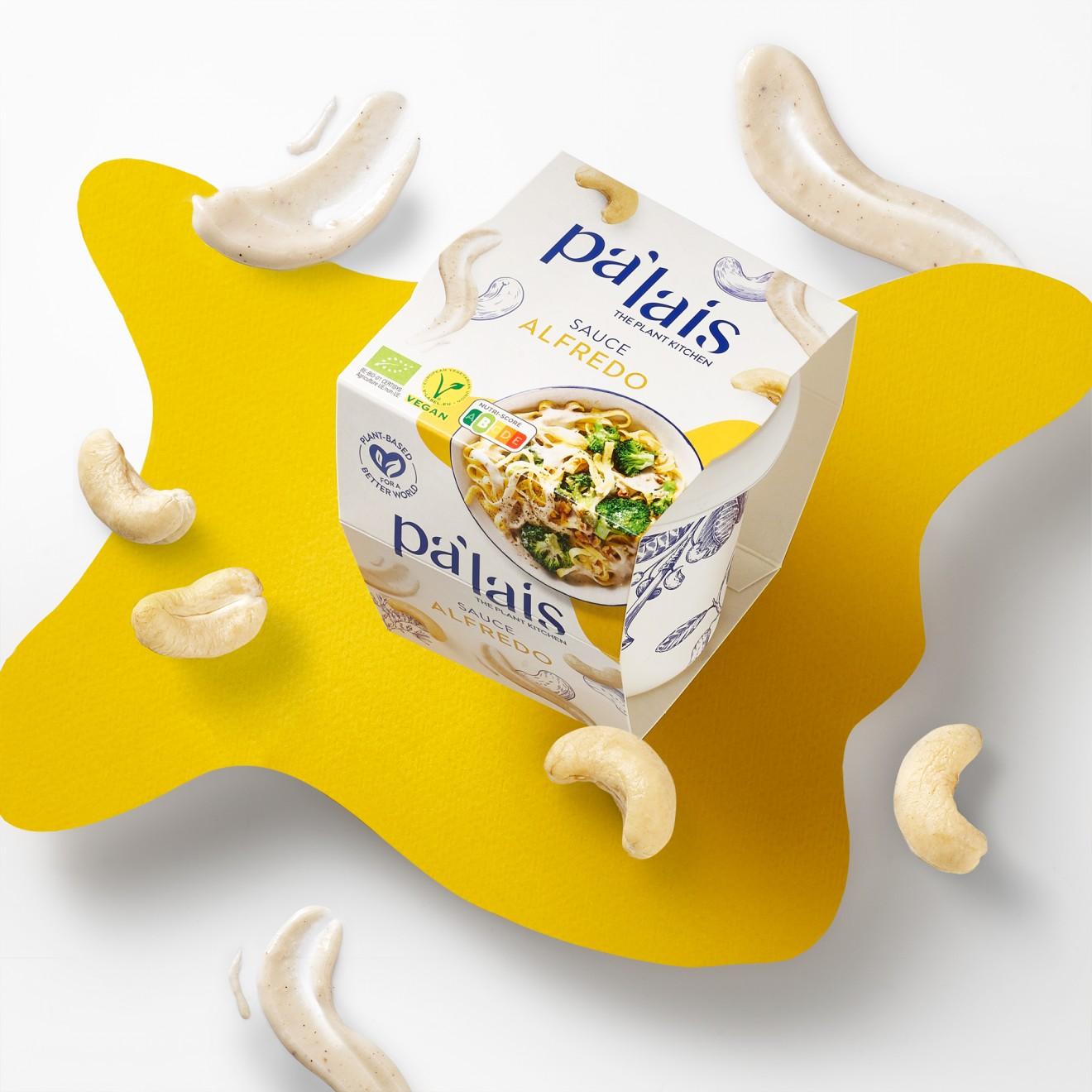 Quatre Mains package design - cheese, alfredo, sauce