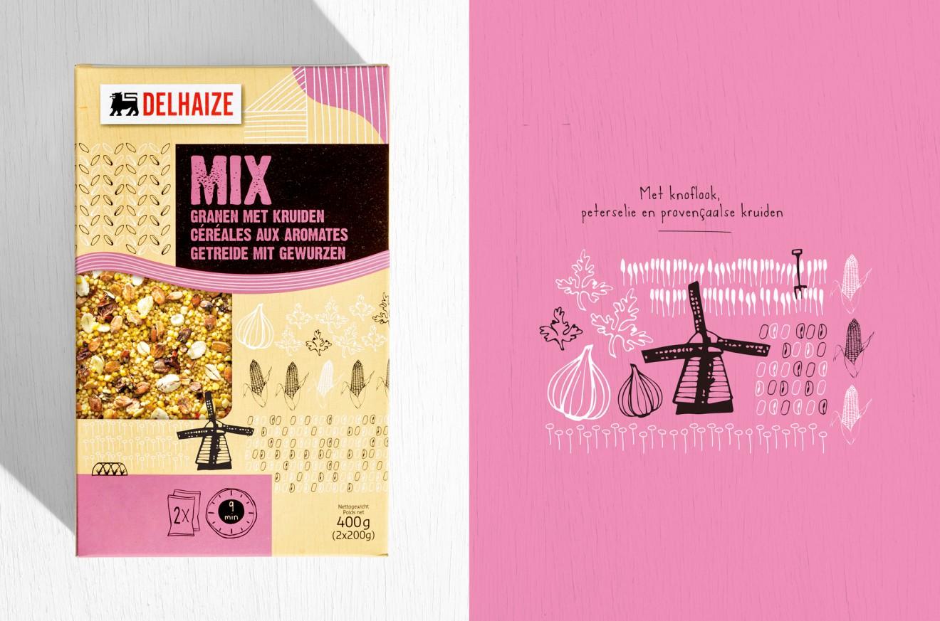 Quatre Mains package design - kruiden, gedroogd, knoflook, peterselie, provencaalse kruiden