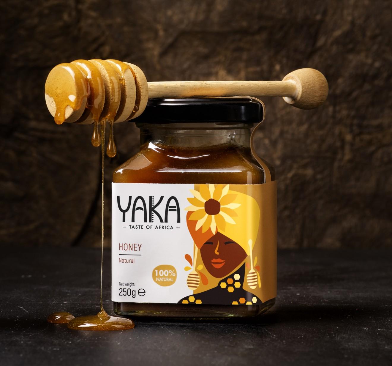Quatre Mains package design - african, fruits, honey