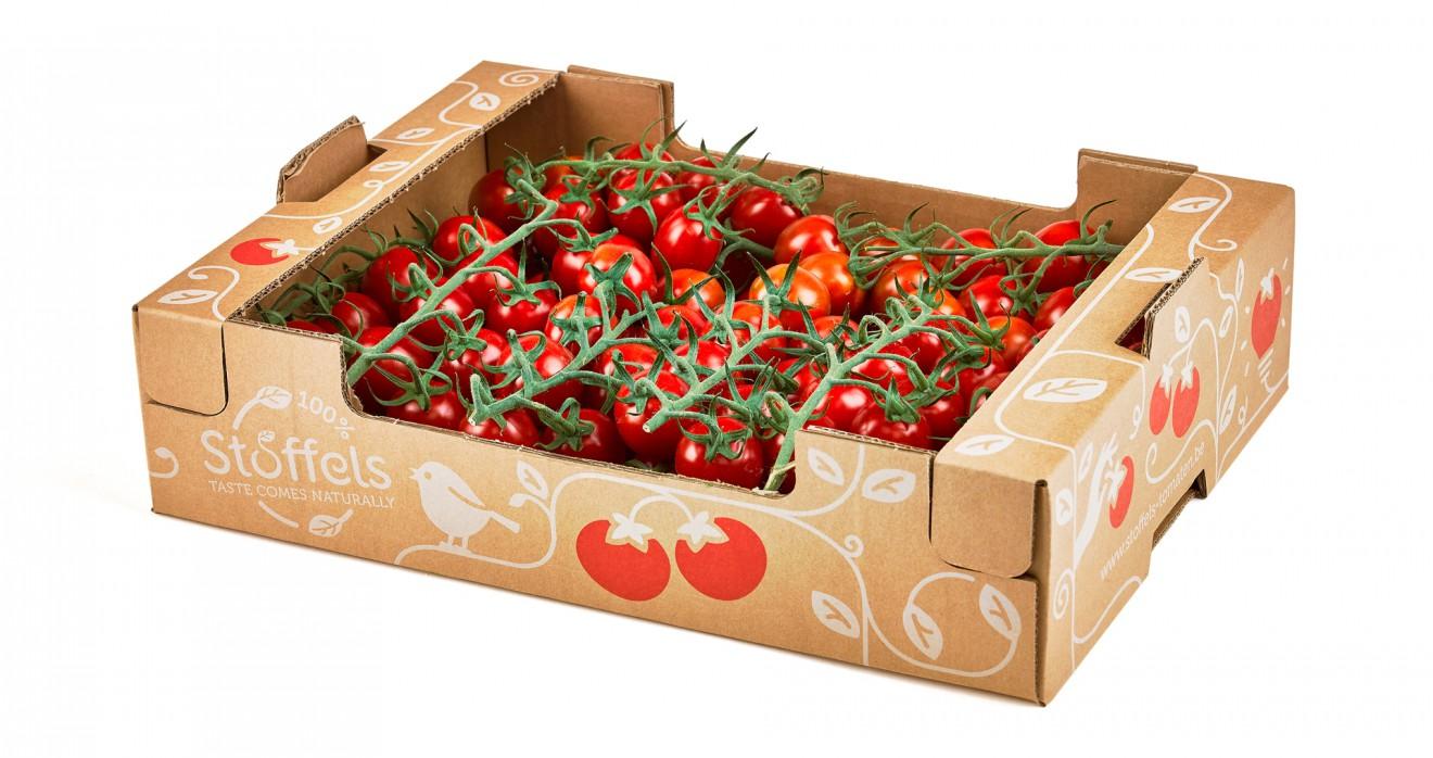 Quatre Mains package design - kraft, tomato, cherry
