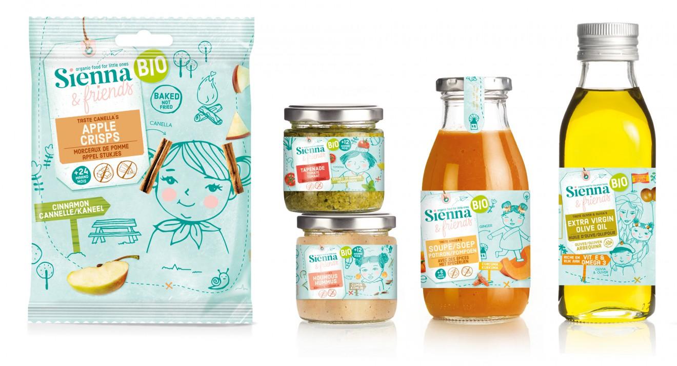 Quatre Mains package design - cinnamom, olive oil, kids, food