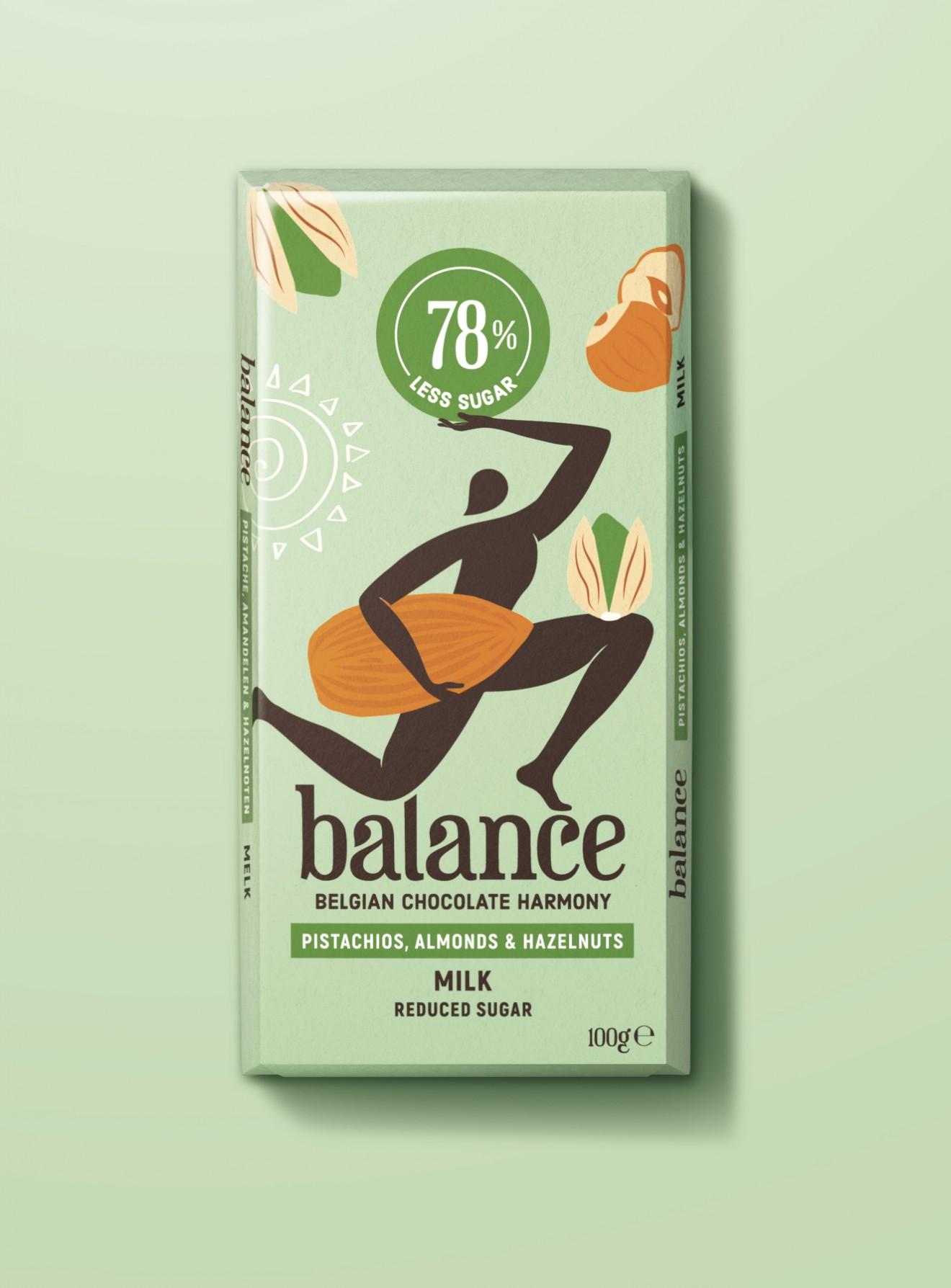 Quatre Mains package design - yoga, almond, pistache