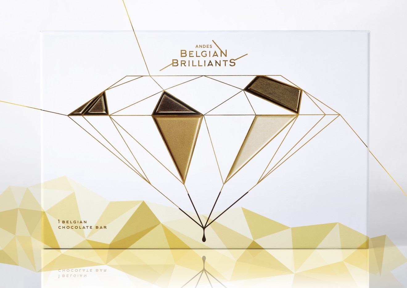 Quatre Mains package design - diamond, luxury, chocolate, belgian brilliants
