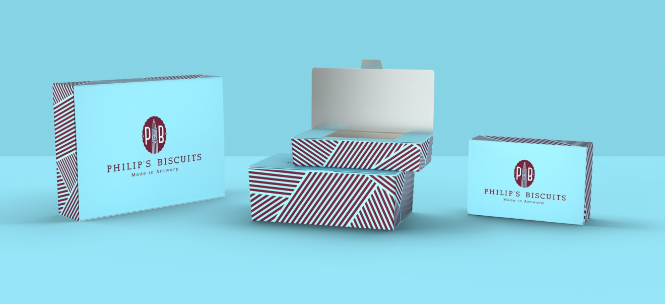 Quatre Mains package design - ballotins, koekjes, handmade, made in antwerp