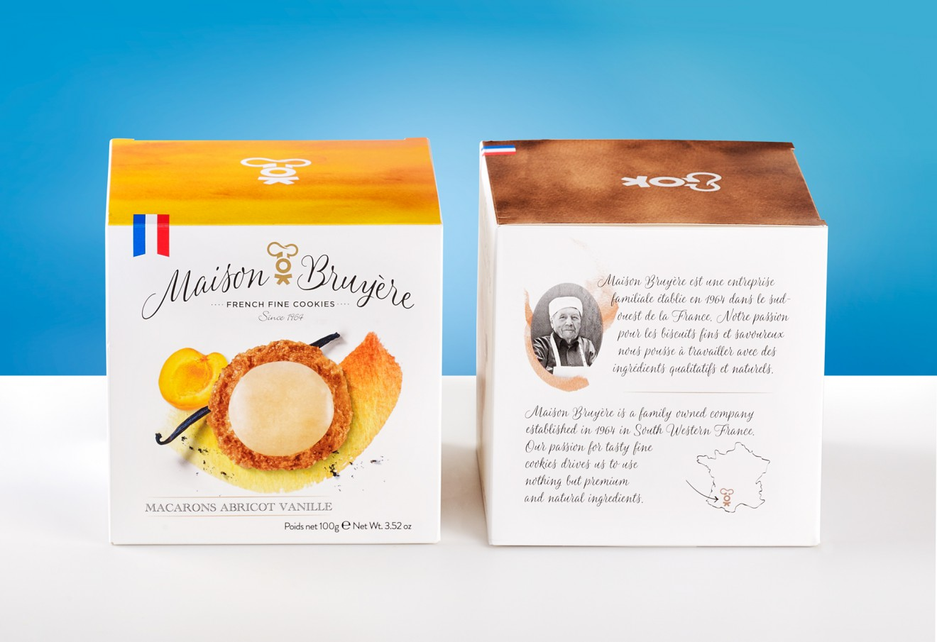 Quatre Mains package design - fine french, bruyère, quatremains