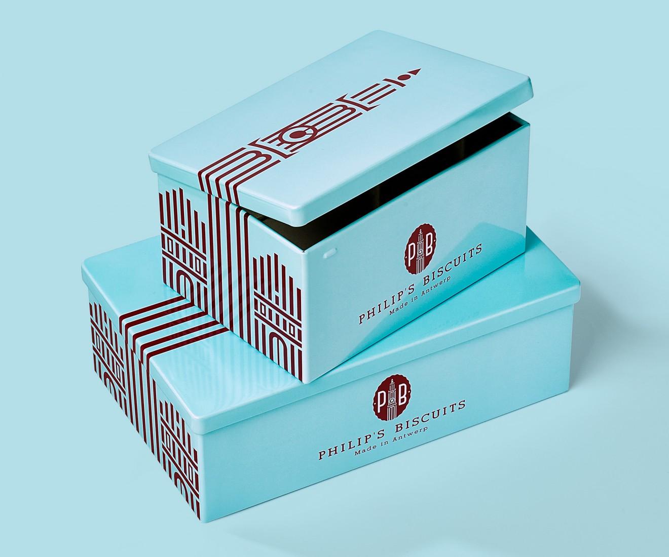 Quatre Mains package design - tins, antwerp biscuits, handjes, koekjes