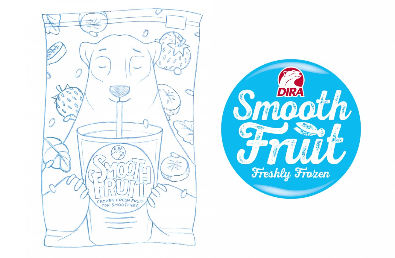 Quatre Mains package design - smoothie, packaging, banana