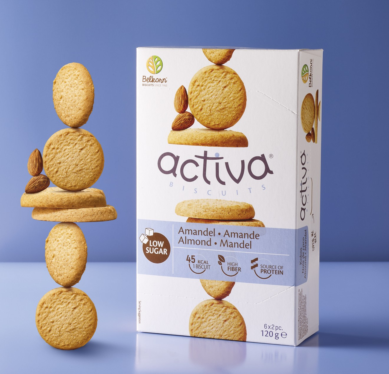 Quatre Mains package design - pack, biscuits