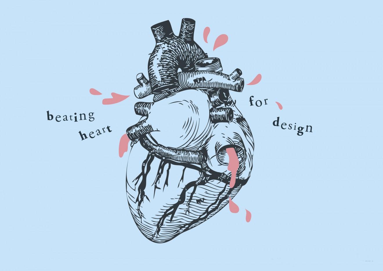 Quatre Mains package design - beating heart, quatre mains