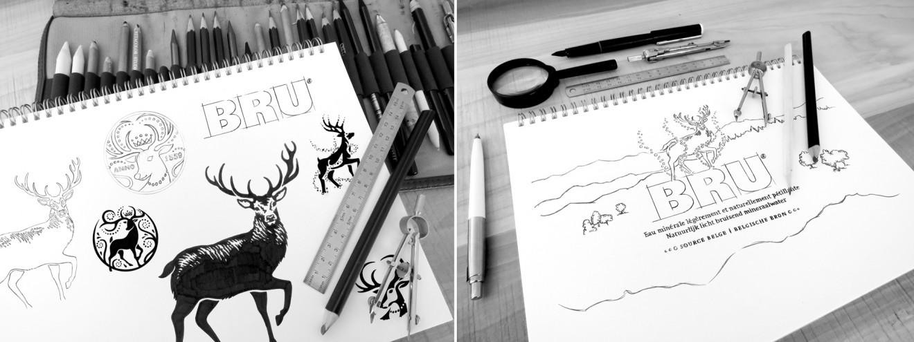Quatre Mains package design - sketch, packaging, branding, rebranding