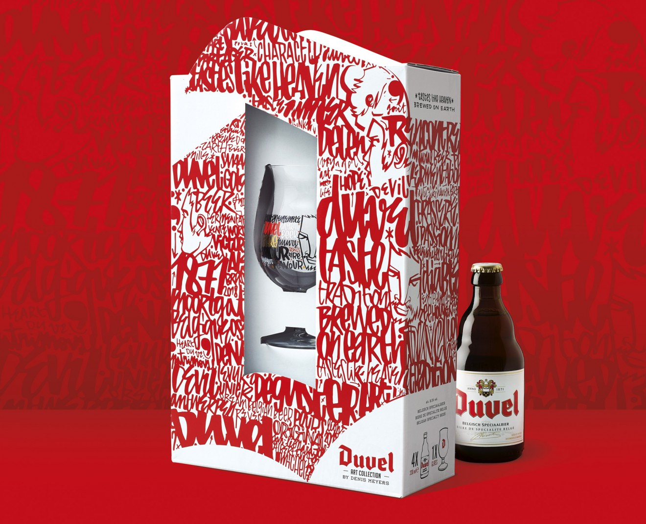 Quatre Mains package design - denis meyers, duvel, packaging, gift pack