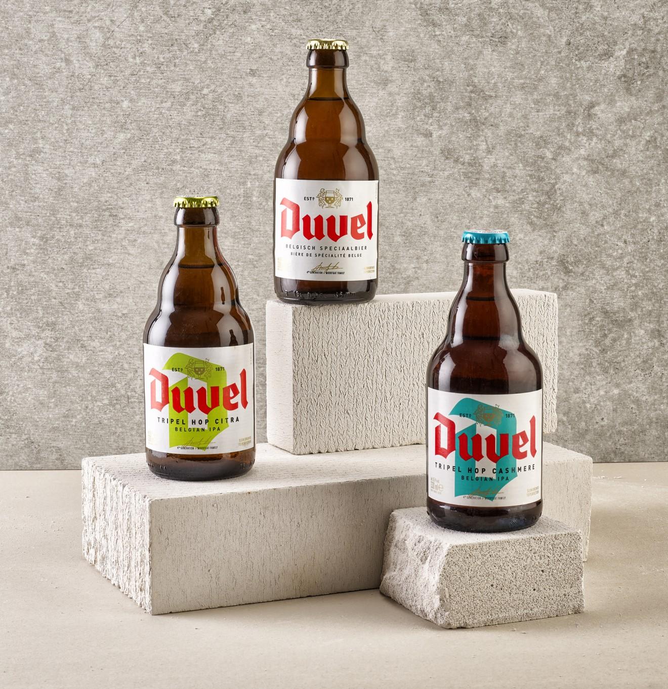Quatre Mains package design - agency, design, beer, city, triple, belgium