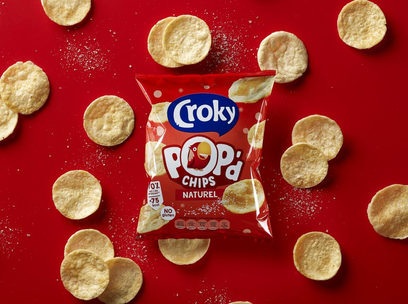 Quatre Mains package design - Croky, pop'd, chips, quatre mains