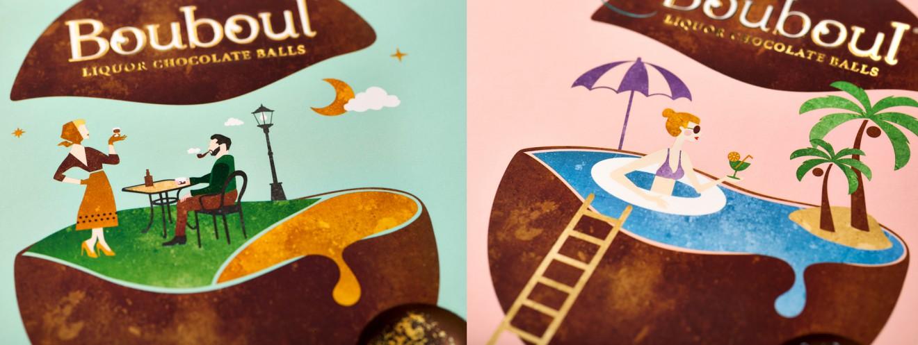 Quatre Mains package design - details, hotfoil, gold, packaging, branding