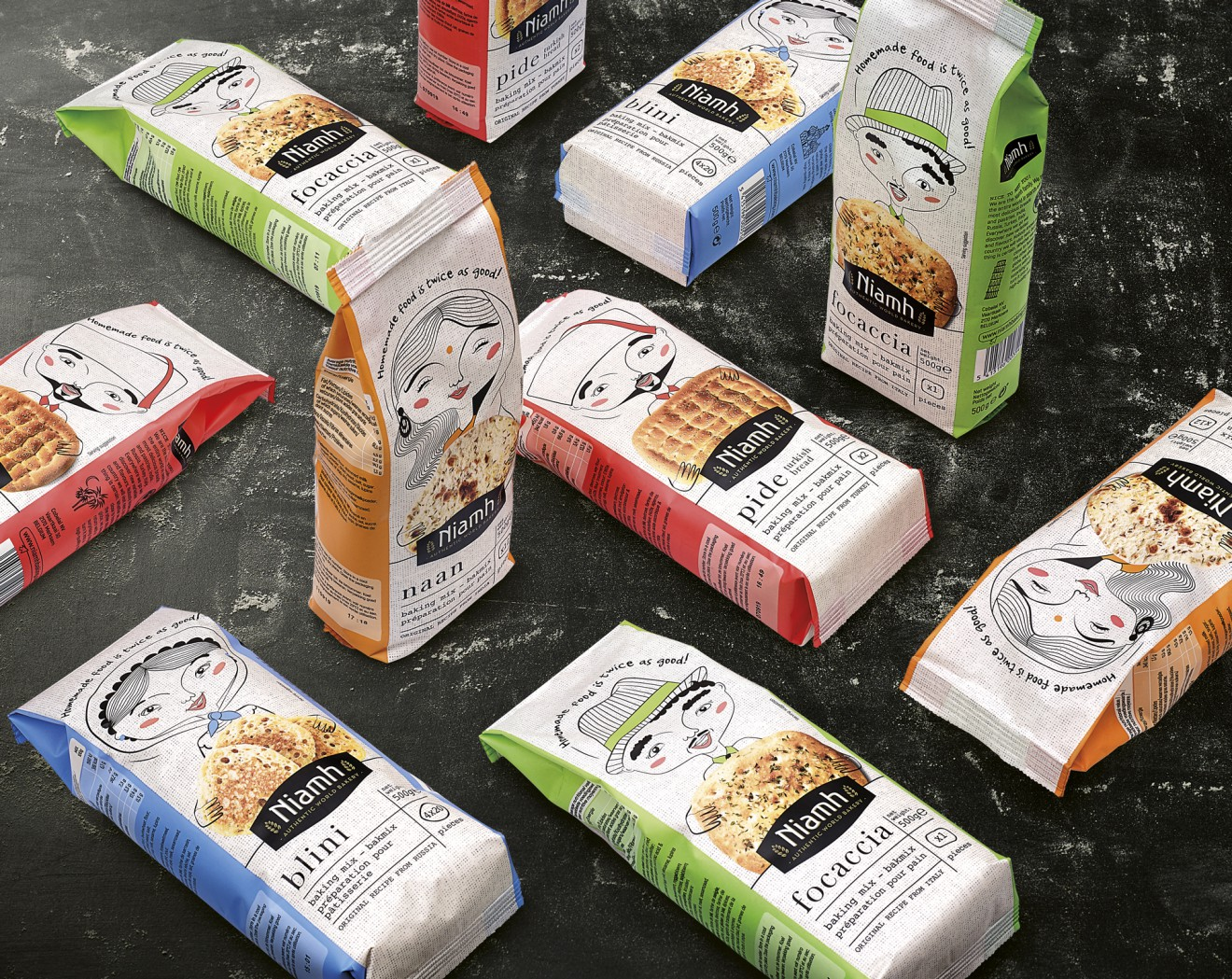 Quatre Mains package design - foliedruk, bloem, packaging, design