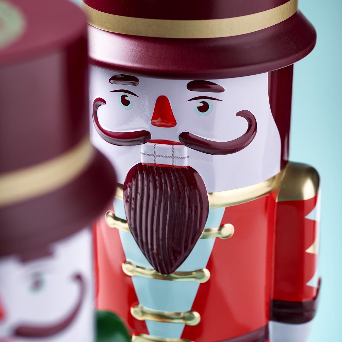 Quatre Mains package design - butter, tin, beard, moustache