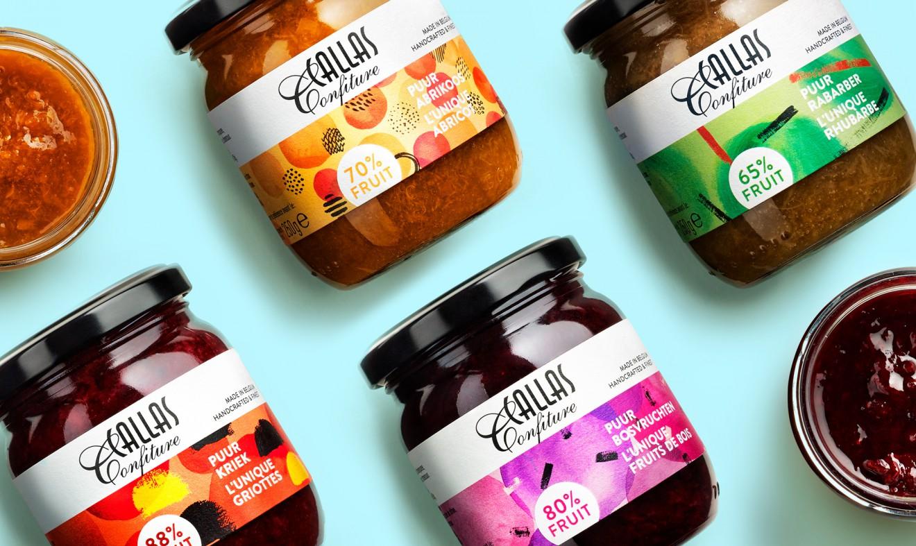 Quatre Mains package design - Packaging, Callas, Sinaasappel, Confiture, Patroon, Puur