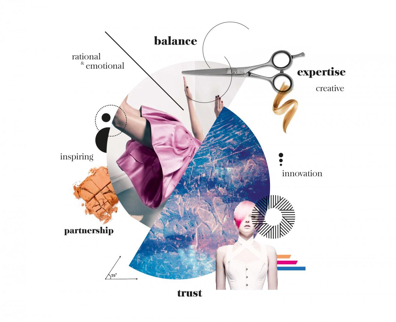 Quatre Mains package design - mood, inspiration, moodboard, hairdresser