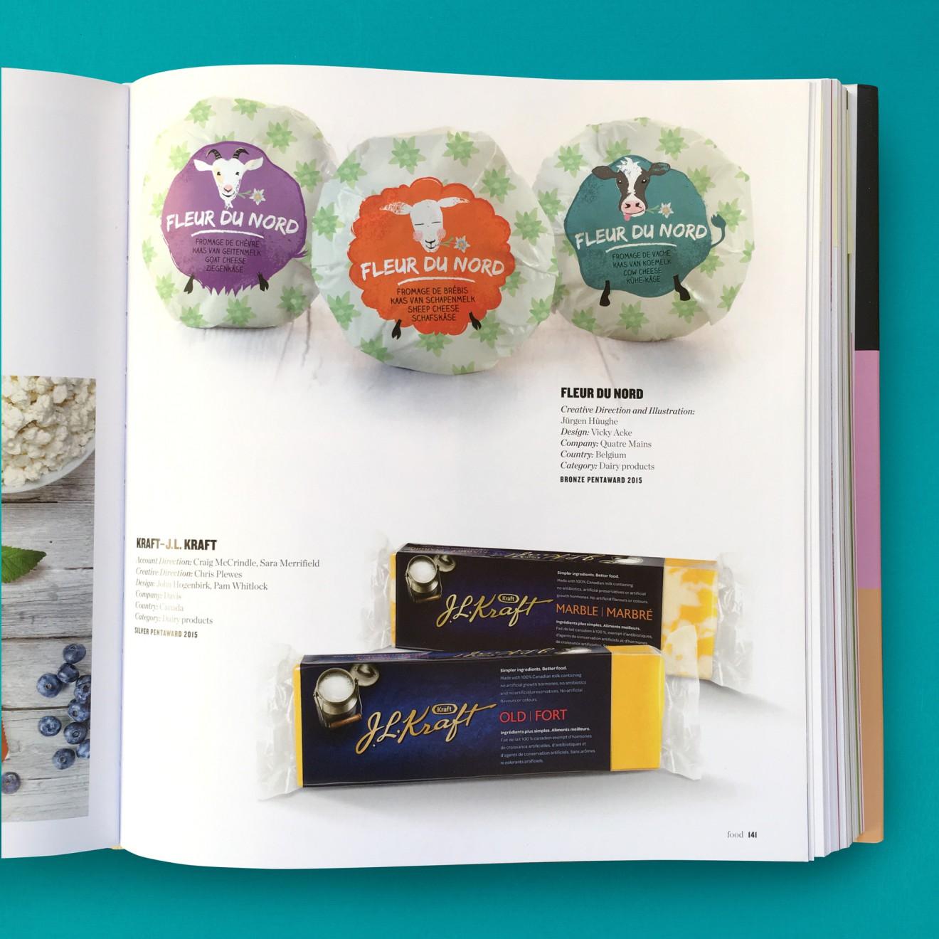 Quatre Mains package design - fleur du nord, cheese, pentaward