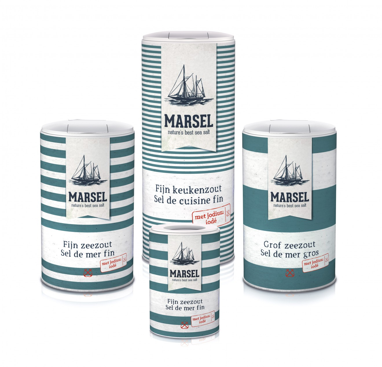 Quatre Mains package design - sea salt, marsel, packaging design
