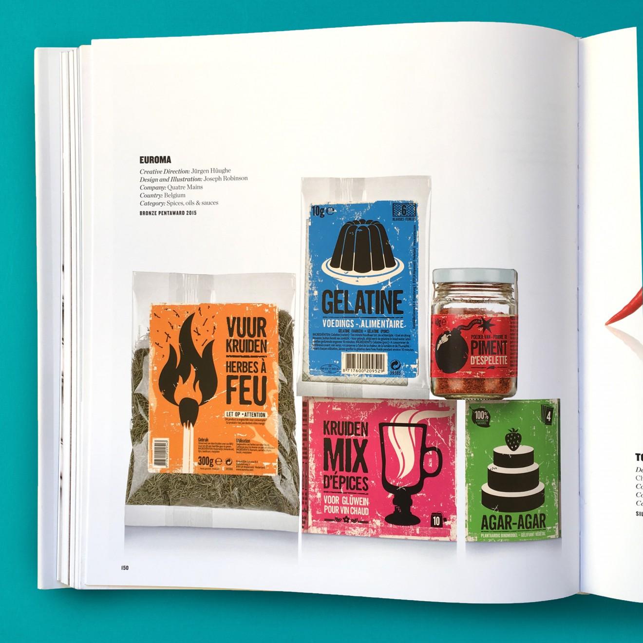 Quatre Mains package design - euroma, spices, pentaward