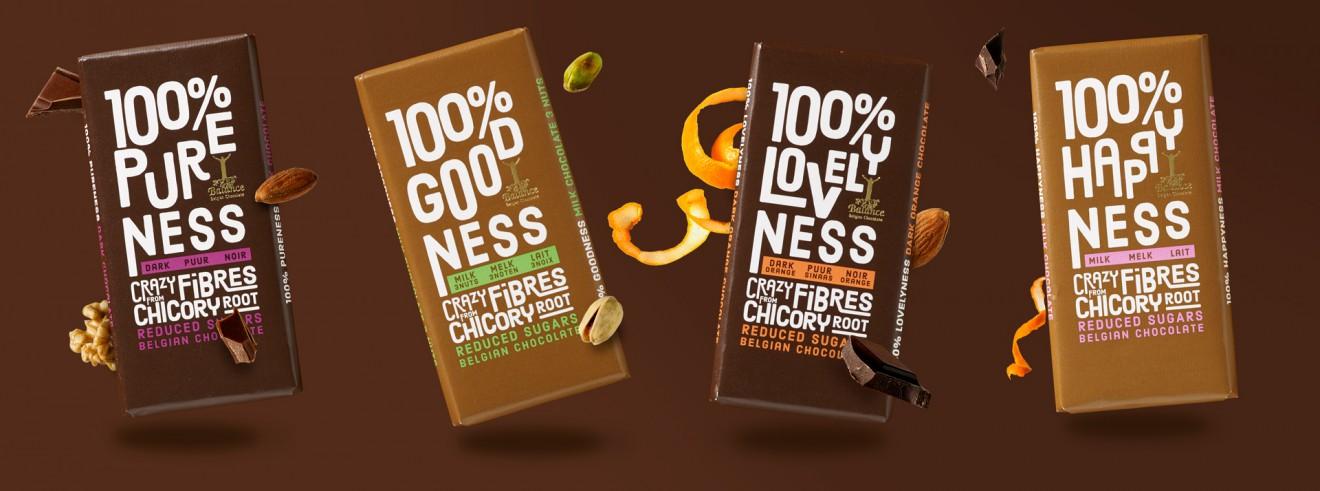 Quatre Mains package design - chocolate, flavours, orange, pistache, almond