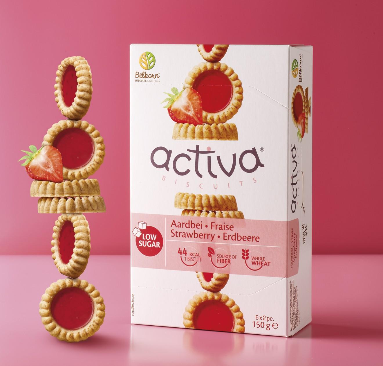 Quatre Mains package design - low sugar, wellbeing, strawberry