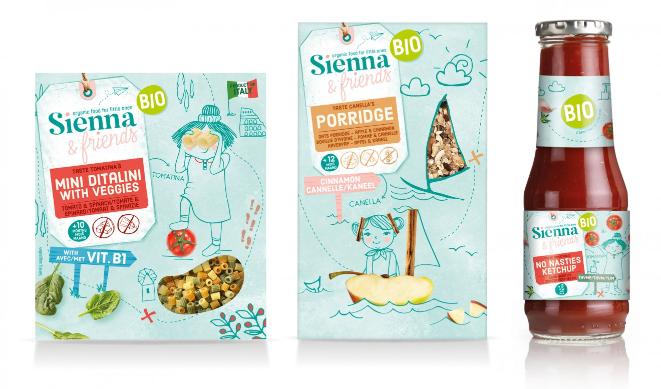 Quatre Mains package design - line up, quatre mains, packaging, branding