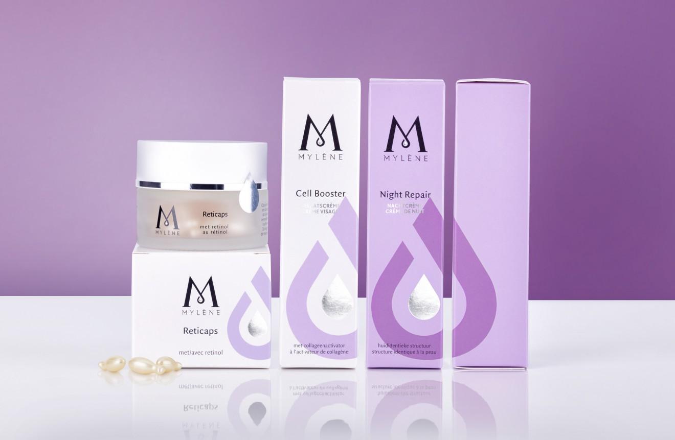 Quatre Mains package design - care, retinol, night&day